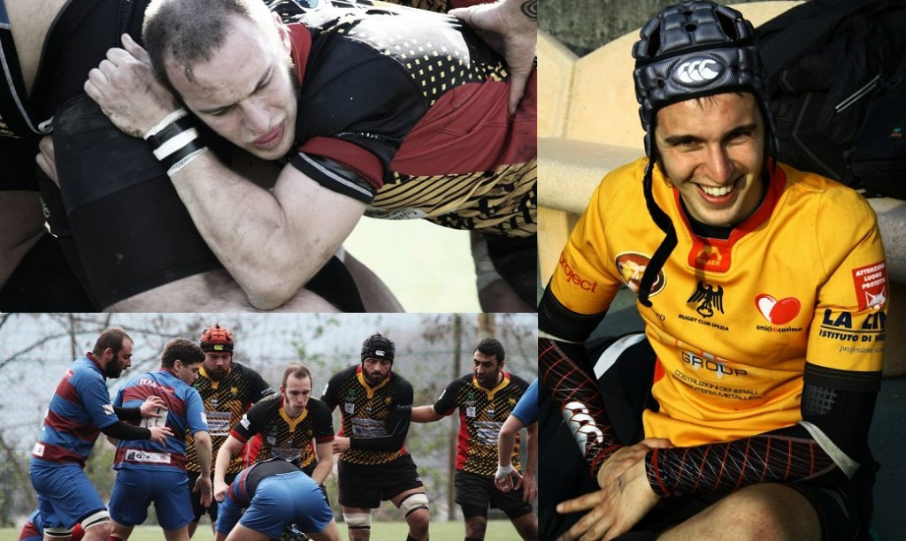 RUGBY SPEZIA ZANGANI 100 CAPS COLLAGE 2016