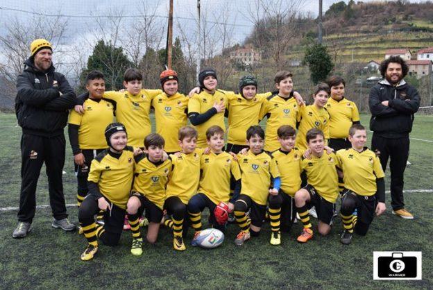 Foto Warner Greco: Rugby Spezia Under 12 e gli allenatori Vergassola e Fumera