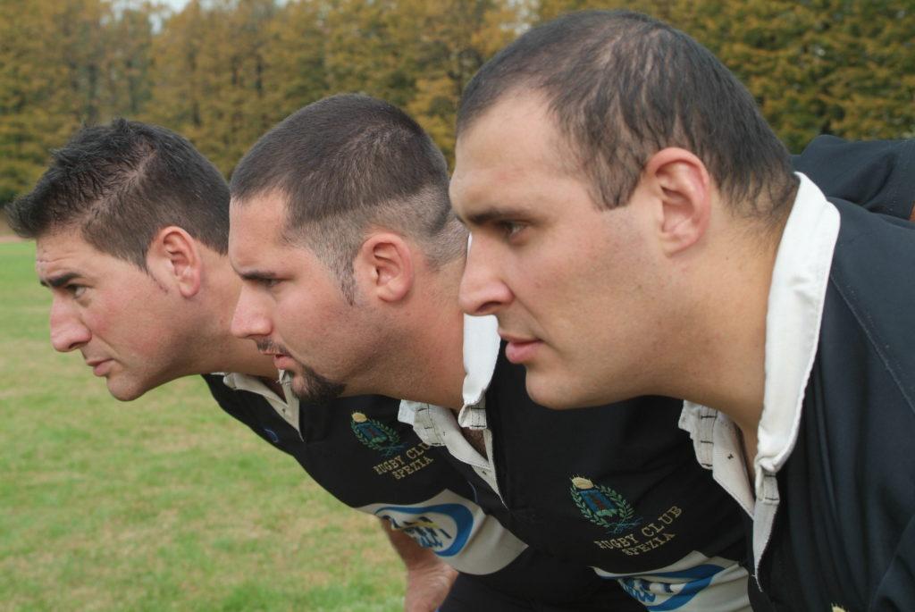 una storica prima linea degli aquilotti Paolo Checchi, Lorenzo fascio e Hernan Herenu -campionato. 2006-2007